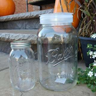 Wedding items mason jars ,voltive candle holders and wood piecea