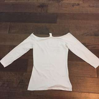 H&M Off the shoulder white top