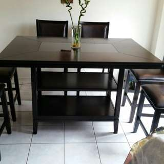 Ashley dinning table with 6 chairs