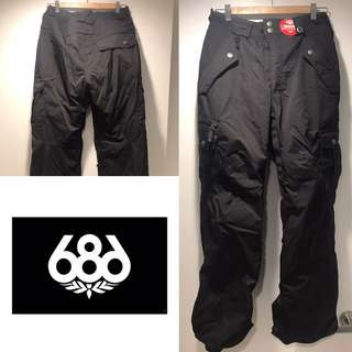 NEW men's XS 686 Snowboard pants in black