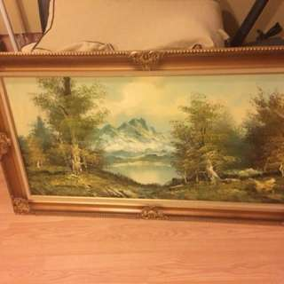 Painting in frame