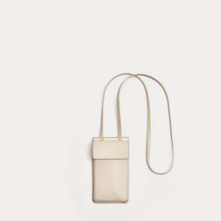 White Zara phone case crossbody