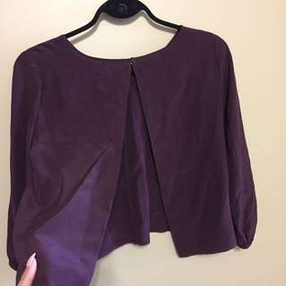Aritzia wilfred silk blouse with open back