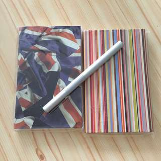 Paul smith notebook and fountain pen