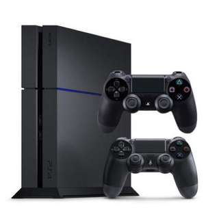 PS4 500GB with 2 controllers (used)