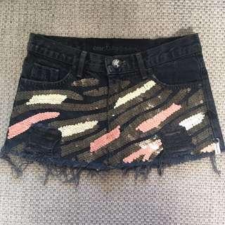 oneteaspoon jeans skirt size 6