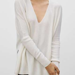 *Aritzia* Babaton S thin cashmere sweater in ivory