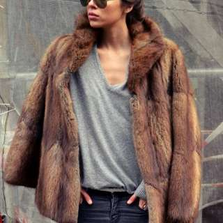 *Aritzia* SUNDAY BEST XS faux fur jacket