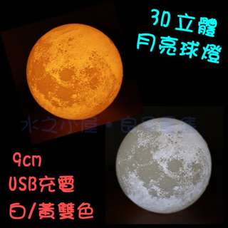 3D Moon Light 2 color Realize USB charge gifs