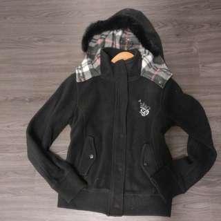 Fall black hoodie jacket I.P. ZONE women