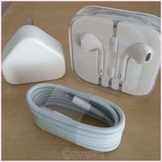 ORIGINAL Brand New Apple Earpiece Cable and Charger SET $39