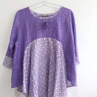 Purple Batik Top