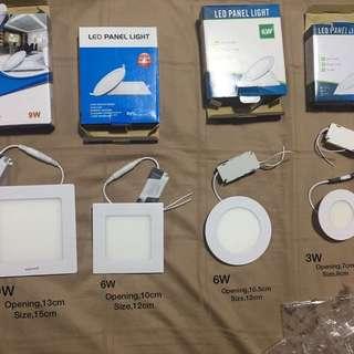 Different sizes of panel led light