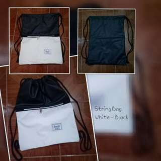 String Bag with Zipper