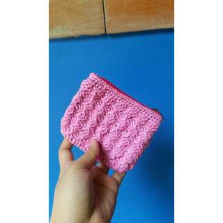 Crocheted Pink coin purse