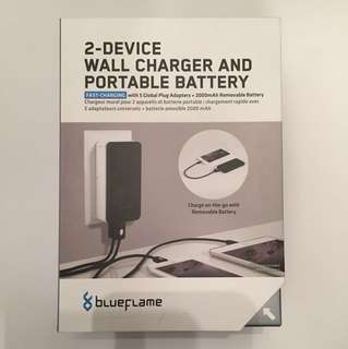 Portable Battery Pack And Wall Charger