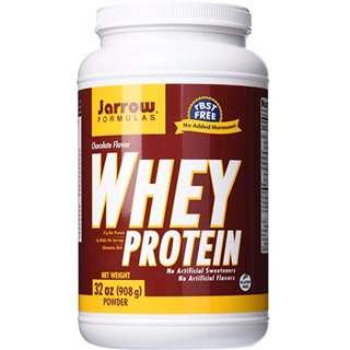 【包順豐】Jarrow Formulas, 100% Natural Whey Protein, 32 oz (908 g) Powder, 乳清蛋白 健身增肌 大隻奶粉 朱古力味