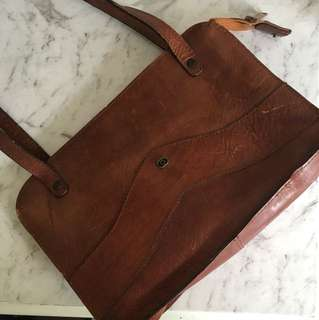 Vintage Leather Oroton Handbag