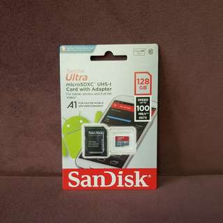 【SanDisk】Ultra microSD UHS-I A1 128G 記憶卡
