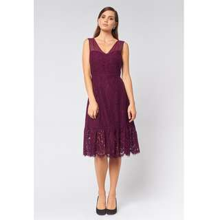 Alannah Hill Watch Me Walk Dress in grape, S16 - THIS SIZE SOLD OUT EVERYWHERE - perfect for spring racing!