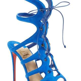 Blue Suede Christian Louboutin