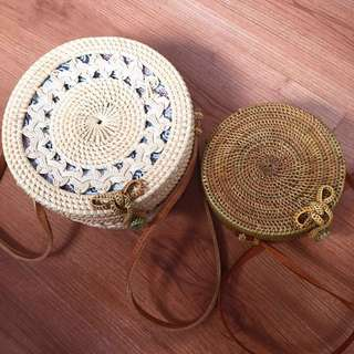 Roundy Rattan bags