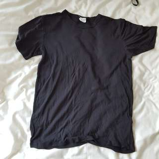 H&M plain black basic t shirt