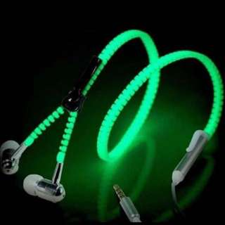 Glow in The Dark Earphones With Microphone!