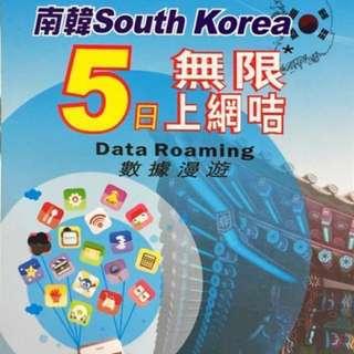 Korea Data sim S.K Telecom南韓4G 5日無限數據卡