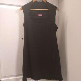 BCBGirls black dress with floral pattern cut