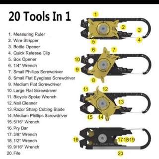 20 In 1 Outdoor Multi Tool!