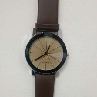 Jam Tangan Pria (bisa untuk wanita) Stainless Steel (Brown)