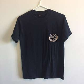 OVO navy blue pocket tshirt