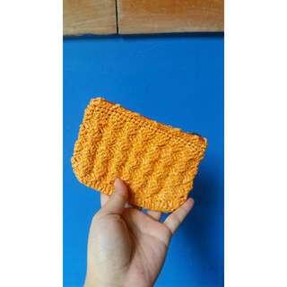 Crocheted Orange coin purse
