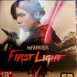 🚚 PS4 惡名昭彰 首道曙光 infamous first light 中文 中英文合版 光碟無刮