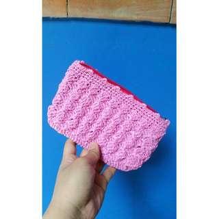 Crocheted Pink purse