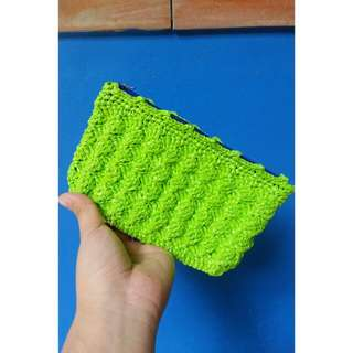 Crocheted Green purse