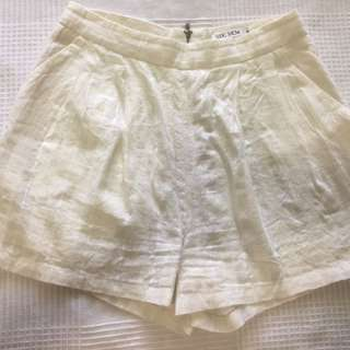Slide Show white shorts