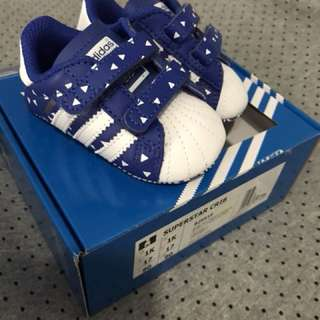 Adidas superstar crib shoes BNWT size 1k