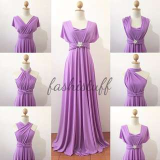 Lilac Infinity Dress / Convertible Wrap Maxi Dress