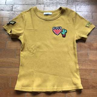Valleygirl Mustard Top