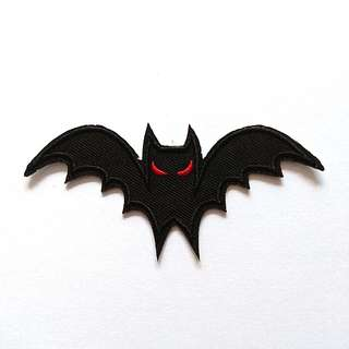 Flying Bat Halloween Iron on Patch
