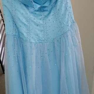Baby Blue Ball Dress - Princess Corset Formal