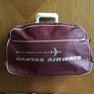 Vintage Qantas Travel Bag