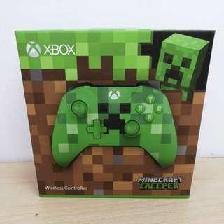 (Brand New) XBox One Wireless Controller Minecraft Creeper Limited Edition