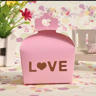 Ready Stocks 29 Pieces Sweet Pink Door Gift Favors Box