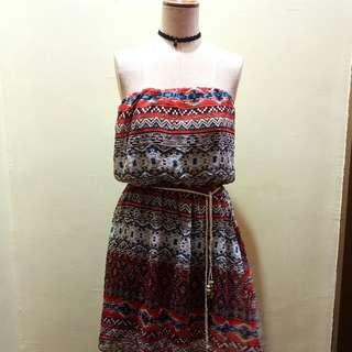 aztec tube dress