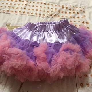 🚚 女寶90cm蓬裙(紫配粉色)
