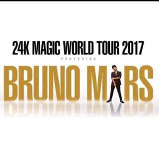 BRUNO MARS 24K MAGIC WORLD TOUR TICKET
