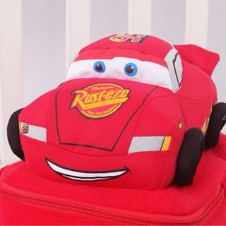 NEW Cute Soft plush Robocar Poli Bag Backpack - CARS MCQUEEN